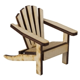 UNFINISHED MINI ADIRONDACK CHAIR