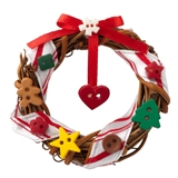 Country Christmas Charm Wreath