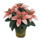 Four Bloom Pink Poinsettia