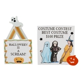 2-Pc. Halloween Sign Set