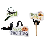 3-Pc. Halloween Sign Set