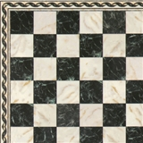 1/24 Scale Faux Marble Flooring Sheet with Border