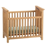 Natural Oak Slatted Crib