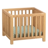 Natural Oak Slatted Playpen