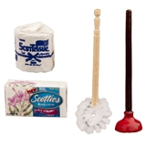 4-Pc. Bathroom Supplies Set