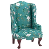 Green Simmons Wing Chair