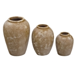 Set of 3  inchSimple Shapes inch Patio Jars