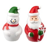 Mini Santa and Snowman Set