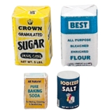 Sugar, Flour, Baking Soda and Salt Set