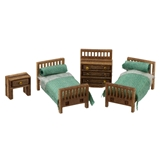 1/144 Scale Modern Child's Room Furniture Kit