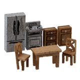 1/144 Scale Modern Kitchen Furniture Kit