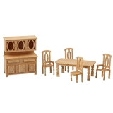 1/48 Scale Country Dining Room Furniture Kit
