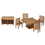 1/48 Scale Modern Dining Room Furniture Kit