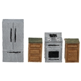 1/48 Scale Modern Kitchen Furniture Kit