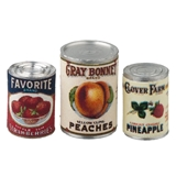 3-Pc. Vintage Canned Fruit Set