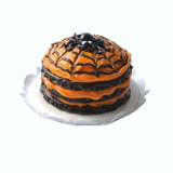 Orange Spider Web Layer Cake
