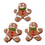 Three Gingerbread Men Cookies