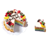 Sliced Rainbow-Layer Birthday Cake