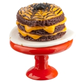 Spider Cake on Decorated Stand