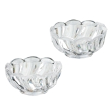 Two Clear Scalloped Bowls