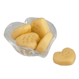 Six Heart Cookies and Dish
