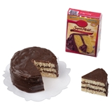 Sliced Layer Cake and Cake Mix Box