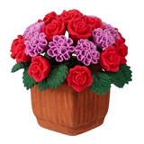 Red Rose and Purple Carnation Arrangement
