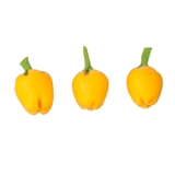 Three Yellow Bell Peppers