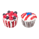 Pair of Patriotic Cupcakes