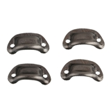 Four Gunmetal Drawer Pulls