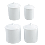 Four White Canisters