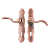 Pair of Aged Bronze French Door Handles