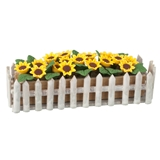Sunflowers Picket Fence Planter Box