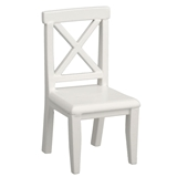 White Crossbuck Chair