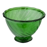 Green Glass Punch Bowl