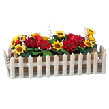Sunflowers and Daisies in Picket Fence Planter