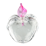 Heart Jar with Pink Swirl Topper