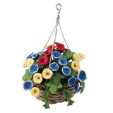 Multi-Color Hanging Basket