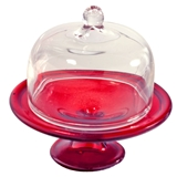 Large Red Pedestal Cake Stand