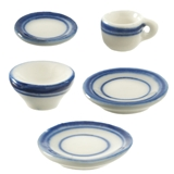 5-Pc. Blue Symmetry Dishes