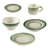 5-Pc. Green Symmetry Dishes