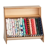 Fabric Display Shelf with Fabric Bolts