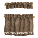 Burlap Cottage Curtains