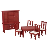 6-Pc. 1/24 Scale Dining Room Set