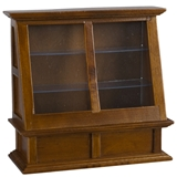 Walnut Tall Display Cabinet