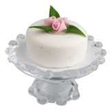 Small Pink Rose Cake on Stand