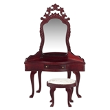 Mahogany Vanity with Stool