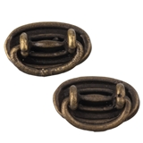 Pair of Antique Brass Drawer Pulls