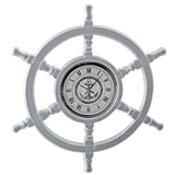"Helmsman's Wheel ""Clock"""