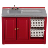 Red Utility Sink